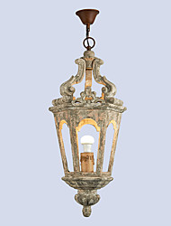 cheap -澳斯丹鼎 Industrial Chandelier Ambient Light Painted Finishes Wood Wood / Bamboo Wood / Bamboo Creative 110-120V / 220-240V