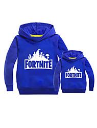 cheap -Unisex Family Look Basic Daily Letter Long Sleeve Hoodie & Sweatshirt Blue