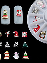 cheap -12 pcs Multi Function / Best Quality Metal Alloy Nail Jewelry For Santa Suits Creative nail art Manicure Pedicure Christmas / Festival Fashion