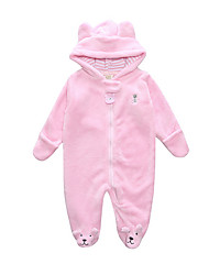 cheap -Baby Girls' Basic Solid Colored Long Sleeve Romper Blushing Pink / Toddler