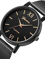 cheap -Couple's Wrist Watch Quartz Stainless Steel Leather Black / Brown Chronograph Cute Casual Watch Analog Fashion Minimalist - Silver / Black Gold / Black Black / Rose Gold One Year Battery Life