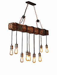 cheap -10-Light 18 cm Creative Chandelier Wood / Bamboo Industrial Painted Finishes Country 110-120V / 220-240V