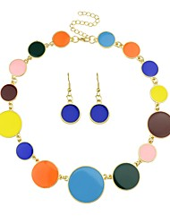 cheap -Women's Drop Earrings Pendant Necklace Tropical Ladies Simple Fashion Earrings Jewelry Black / Rainbow / Blue For Ceremony Date 1 set