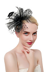 cheap -Women's Kentucky Derby Vintage Elegant Head Jewelry Wedding Party - Solid Colored / Linen / Mesh / All Seasons
