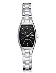 cheap -Women's Wrist Watch Square Watch Quartz Silver / Rose Gold Casual Watch Adorable Imitation Diamond Analog Ladies Luxury Elegant - Rose Gold Silvery / White Black / Rose Gold One Year Battery Life