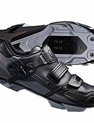 cheap -Mountain Bike Shoes Nylon, Fiberglass, Air-flow vents, Non-Slip tread Waterproof Breathable Cushioning Cycling / Bike Cycling Shoes Black Cycling Shoes / Ventilation / Ventilation