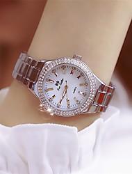 cheap -Women's Wrist Watch Diamond Watch Gold Watch Quartz Ladies Creative Analog Gold / Silver / White Gold Silver / Two Years / Stainless Steel / Stainless Steel / Japanese / Imitation Diamond