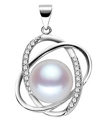 cheap -Freshwater Pearl Pendant Pearl For Women's Oval Shape Classic & Timeless Simple Style Fashion Event / Party Gift High Quality Classic Star 1pc