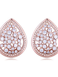 cheap -AAA Cubic Zirconia Earrings Copper S925 Sterling Silver For Women's Drops Elegant European Fashion Wedding Evening Party High Quality Classic Diamond 1 Pair