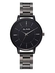 cheap -Couple's Dress Watch Wrist Watch Quartz Black New Design Casual Watch Analog Casual Fashion - Black One Year Battery Life