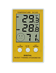 cheap -WINYS DC105 Portable Indoor Thermometer -10℃~90℃ Home life, Measuring temperature and humidity