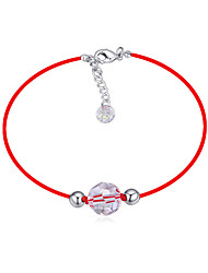 cheap -Rope Bracelet - Crystal Ball Simple Style, Trendy, Fashion Red For Daily Women's