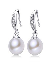 cheap -Freshwater Pearl Earrings Pearl For Women's Round Classic & Timeless Simple Style Fashion Event / Party Engagement High Quality Classic Blessed 1 Pair