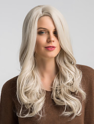 cheap -Synthetic Wig Bouncy Curl Kardashian Side Part Wig Long Brown / White Synthetic Hair 22 inch Women's Fashionable Design Synthetic New Arrival White MAYSU / Natural Hairline / Natural Hairline