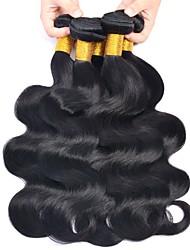 cheap -6 Bundles Brazilian Hair Body Wave Human Hair Unprocessed Human Hair Headpiece Natural Color Hair Weaves / Hair Bulk Hair Care 8-28 inch Natural Color Human Hair Weaves Soft Stress and Anxiety Relief