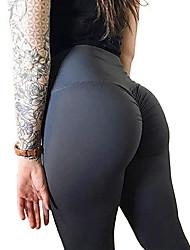 cheap -Women's High Waist Yoga Pants Ruched Butt Lifting Leggings Tummy Control Butt Lift Dark Grey Violet Black Spandex Fitness Gym Workout Running Sports Activewear High Elasticity Skinny Slim