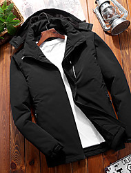 cheap -DZRZVD® Men's Padded Hiking jacket Waterproof Hiking Jacket Winter Outdoor Thermal / Warm Waterproof Windproof Rain Waterproof Jacket Waterproof Rain Proof Back Country Mountaineering Outdoor Black