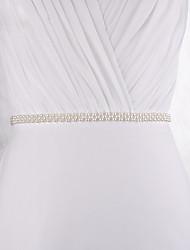 abordables -Polyester / Polyamide Mariage / Fête / Soirée Ceinture Avec Imitation Perle Femme Ceintures