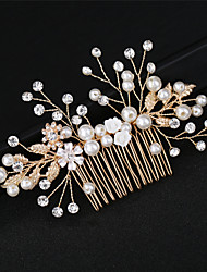 cheap -Alloy Hair Combs with Metallic 1 Wedding / Special Occasion Headpiece