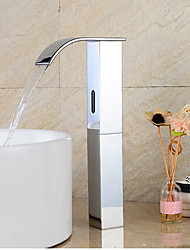 cheap -Bathroom Sink Faucet - Sensor Brass Free Standing Hands free One HoleBath Taps