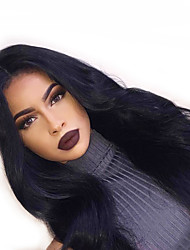cheap -Remy Human Hair Lace Front Wig Wendy style Brazilian Hair Body Wave Black Wig 130% 150% 180% Density with Baby Hair Women Hot Sale 100% Virgin Unprocessed Women's Long Human Hair Lace Wig