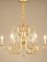 cheap -JLYLITE 6-Light 76 cm Candle Style Chandelier Metal Candle-style Electroplated Traditional / Classic / Country 110-120V / 220-240V