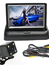 cheap -RenEPai® 4.3 Inch Folding Display Monitor Wireless 170° HD Car Rear View Camera Wide Angle Waterproof 4LED Camera