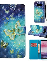 cheap -Case For Samsung Galaxy Note 8 Wallet / Card Holder / Flip Full Body Cases Butterfly Hard PU Leather