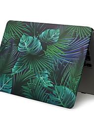 abordables -pour ordinateur portable macbook pro air 11-15 2018 2017 2016 publié a1989 / a1706 / a1708 avec bande tactile, motif en PVC, coquille dure, feuille de palmier