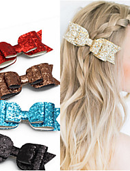 cheap -Headdress / Hair Tool Mixed Material Clips Decorations / Pins Easy to Carry / Best Quality 1 pcs Daily Sweet / Fashion Silver Brown Red