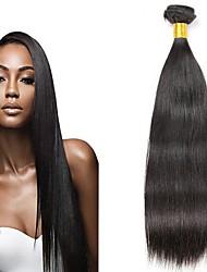 cheap -6 Bundles Malaysian Hair Straight Human Hair Unprocessed Human Hair Natural Color Hair Weaves / Hair Bulk Extension Bundle Hair 8-28 inch Natural Color Human Hair Weaves Silky Smooth Best Quality