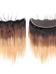 abordables -Laflare Cheveux Brésiliens 4x13 Fermeture Droit Partie gratuite Dentelle Suisse Cheveux Naturel Rémy Femme Doux / Meilleure qualité / Nouvelle arrivee Noël / Mariage / Halloween