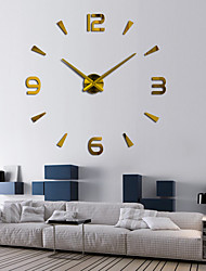 "cheap -Wall Clock,Modern Contemporary DIY Stainless steel Round Indoor 80*150cm(31""*59"")"