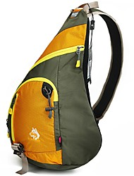 cheap -Jungle King 12 L Hiking Sling Backpack Breathable Wear Resistance Outdoor Hiking Nylon Yellow Green Blue
