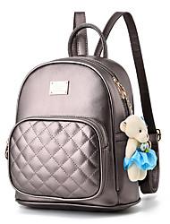 cheap -Commuter Backpack Women's Faux Leather Feathers / Fur Zipper Lattice Daily / School Bronze / Wine / Black / Blushing Pink / Beige