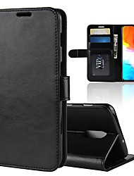cheap -Case For OnePlus OnePlus 6 / One Plus 6T / One Plus 5 Wallet / Card Holder / Shockproof Full Body Cases Solid Colored Hard PU Leather