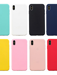 cheap -Simple Case For Apple iPhone XR / XS / XS Max Protective Case Pure Color Frosted Cute Mobile Phone Case Back Cover Solid Colored Shell Soft TPU
