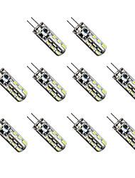 cheap -10pcs 1 W LED Corn Lights 300 lm G4 T 24 LED Beads SMD 3014 Warm White Cold White 12 V / 10 pcs