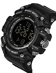 Недорогие -Муж. Спортивные часы электронные часы Цифровой Pезина Черный / Красный / Оранжевый Защита от влаги Календарь Секундомер Цифровой На каждый день Мода - Хаки Черный / Белый Черный / серый / Фаза луны