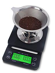 Недорогие -3kg/0.1g Антифрикционное Разная конструкция Цифровая шкала кофе Кухня ежедневно