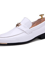 cheap -Men's Formal Shoes Synthetics Spring & Summer / Fall & Winter Casual / British Loafers & Slip-Ons Non-slipping Black / Wine / White
