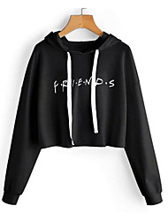 cheap -Women's Hoodie - Solid Colored Black M