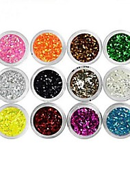 cheap -12 pcs Multi Function / Best Quality Eco-friendly Material Sequins For Creative nail art Manicure Pedicure Daily Trendy / Fashion