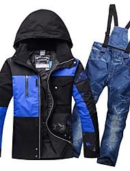 cheap -RIVIYELE Women's Ski Jacket with Pants Winter Sports Windproof Warm Breathability POLY Denim Clothing Suit Ski Wear