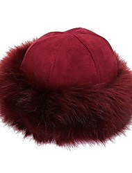 cheap -Women's Basic Polyester Bowler / Cloche Hat-Solid Colored Winter Navy Blue Gray Wine