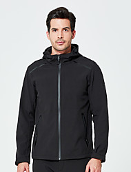 cheap -DZRZVD® Men's Hiking Softshell Jacket Outdoor Solid Color Thermal / Warm Windproof Breathable Rain Waterproof Jacket Top Softshell Waterproof Rain Proof Outdoor Exercise Back Country Mountaineering