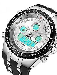 Недорогие -Муж. Спортивные часы электронные часы Цифровой Крупногабаритные силиконовый Черный Защита от влаги С двумя часовыми поясами Фосфоресцирующий Аналоговый Цифровой На каждый день Мода - Белый Черный