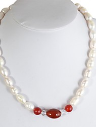 cheap -Freshwater Pearl Necklace Pearl For Women's Oval Shape Retro Vintage Glam Elegant Party Event / Party High Quality Mixed Color Blessed 1pc