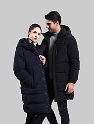 cheap -Men's Padded Hiking jacket Winter Outdoor Windproof UV Resistant Breathable Rain Waterproof Down Jacket Top Single Slider Camping / Hiking Casual Outdoor Exercise Black / Dark Blue