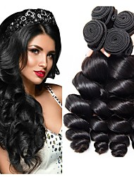 Недорогие -3 Связки Бразильские волосы Свободные волны Не подвергавшиеся окрашиванию человеческие волосы Remy Человека ткет Волосы Уход за волосами Удлинитель 8-28 inch Естественный цвет Ткет человеческих волос
